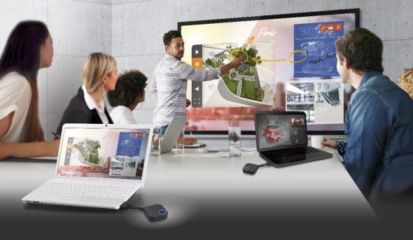 Drahtlos Präsentationssystem BenQ InstaShow WDC10 Full HD Streaming